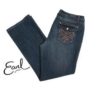 Earl Boot Cut Jeans Flap Pocket w/ Bling - 10P